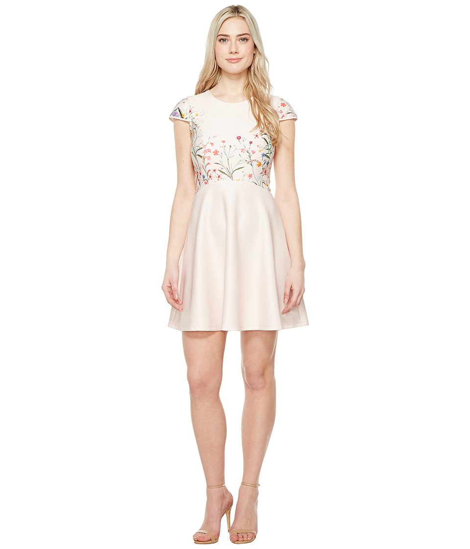 CeCe - Hannah - Short Sleeve Garden Bloom (Beige Blush) Women's Dress