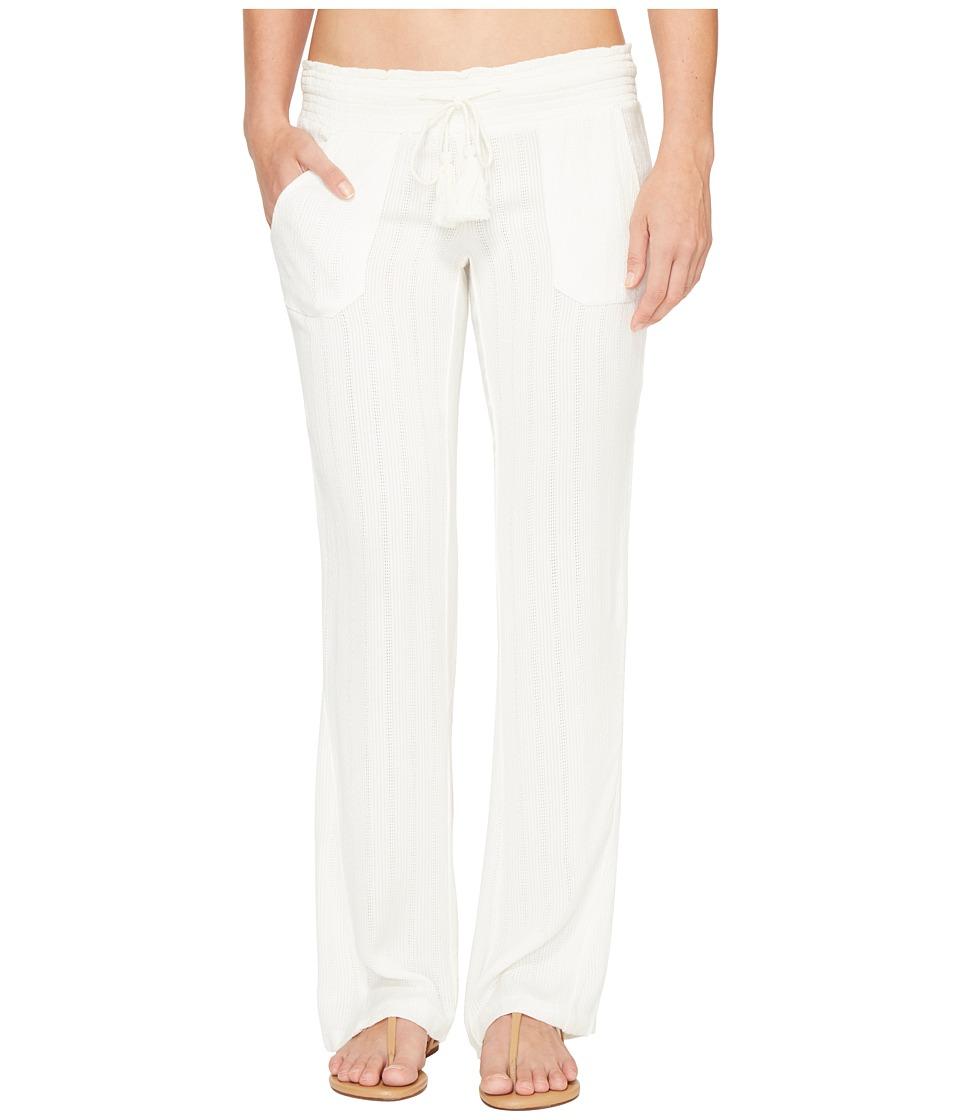 Roxy Ocean Side Pants Cover-Up (Marshmallow) Women