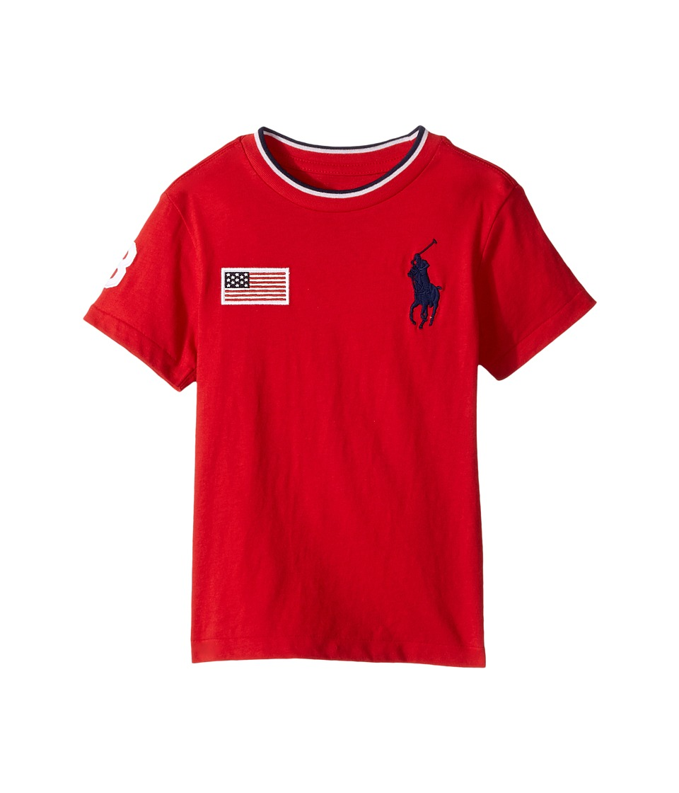 Polo Ralph Lauren Kids - 30s Jersey Big Pony Polo Crew Neck Top (Toddler) (RL 2000 Red) Boy's Short Sleeve Knit