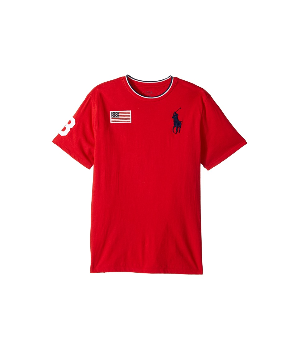 Polo Ralph Lauren Kids - 30s Jersey Big Pony Polo Crew Neck Top (Big Kids) (RL 2000 Red) Boy's T Shirt