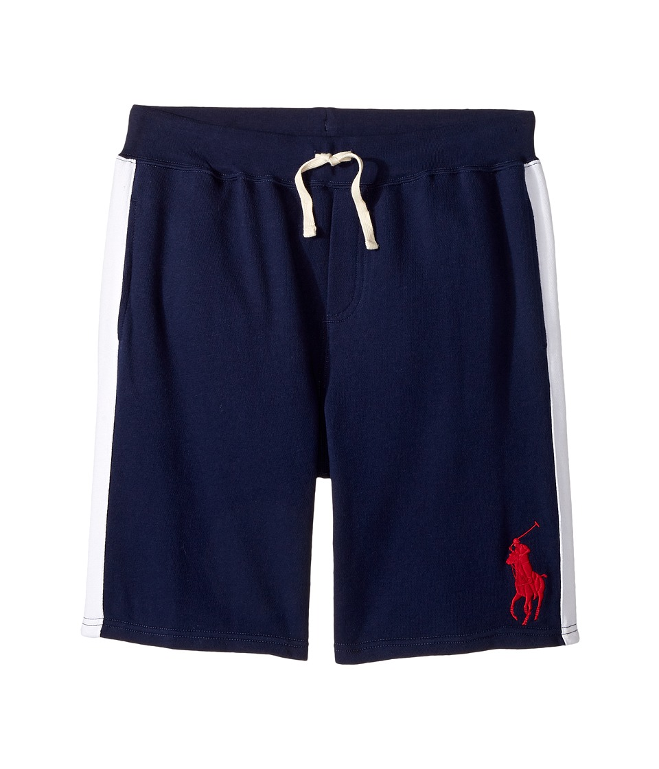 Polo Ralph Lauren Kids - Atlantic Terry Big Pony Polo Shorts (Big Kids) (Newport Navy) Boy's Shorts