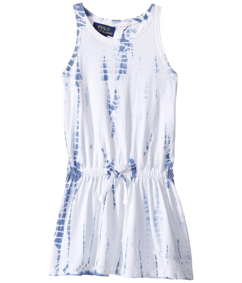 Polo Ralph Lauren Kids - Cotton Jersey Tie-Dye Dress (Toddler) (French Blue) Girl's Dress