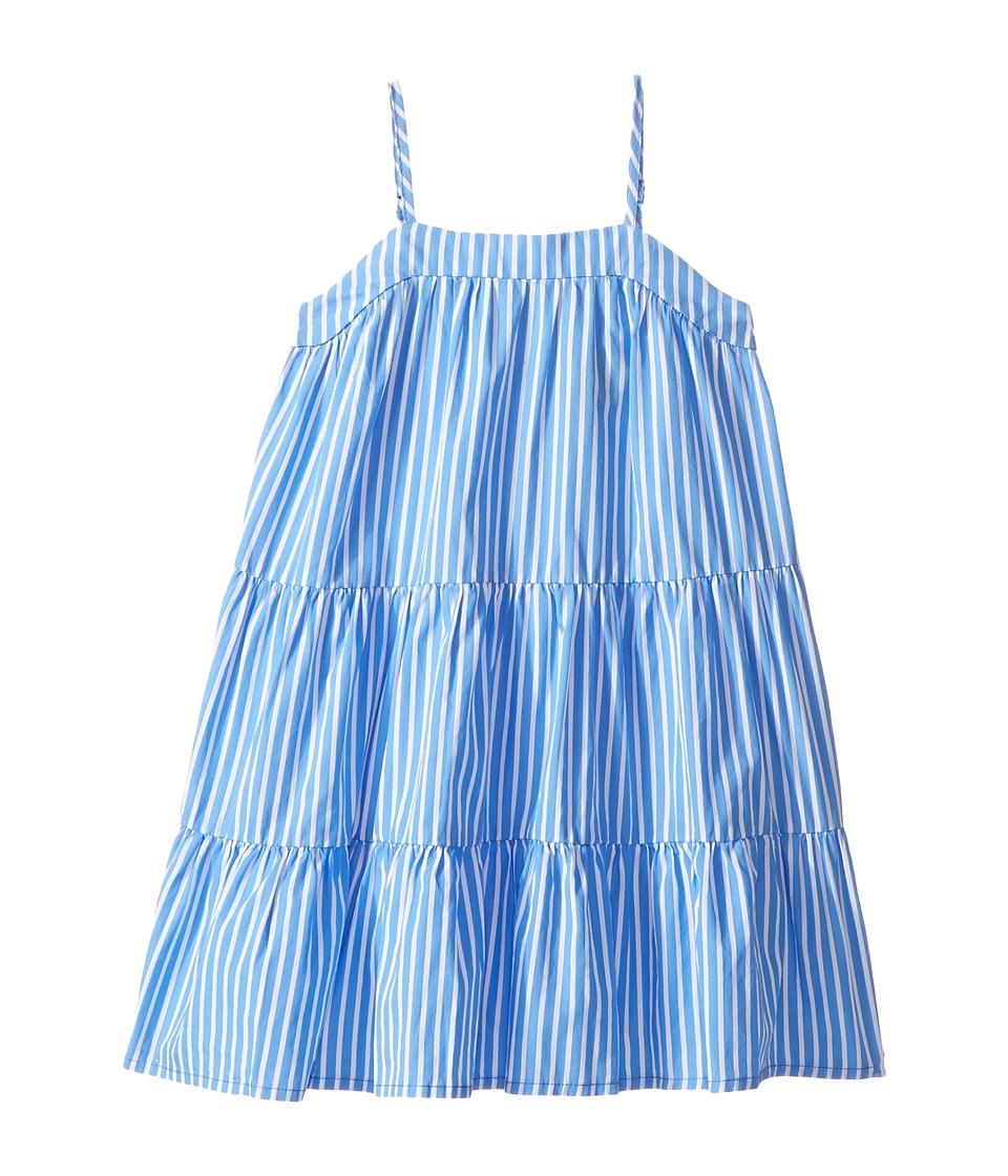 Polo Ralph Lauren Kids - Sunfade Bengal Tiered Dress (Toddler) (Blue/White) Girl's Dress