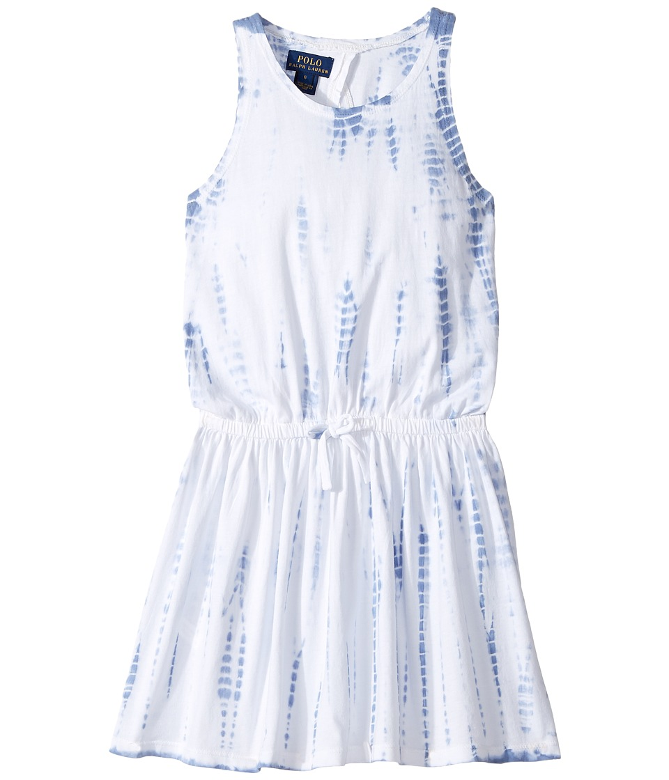 Polo Ralph Lauren Kids - Cotton Jersey Tie-Dye Dress (Little Kids) (French Blue) Girl's Dress