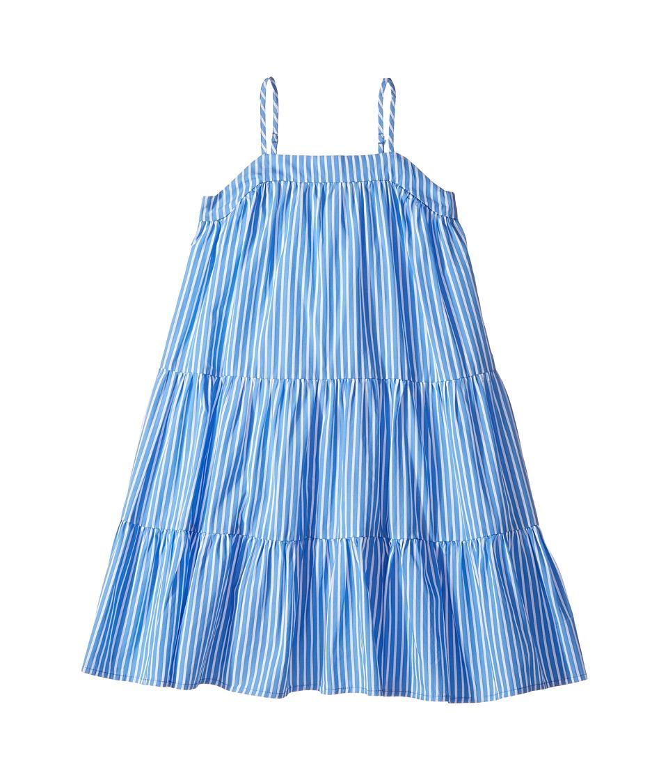Polo Ralph Lauren Kids - Sunfade Bengal Tiered Dress (Little Kids) (Blue/White) Girl's Dress