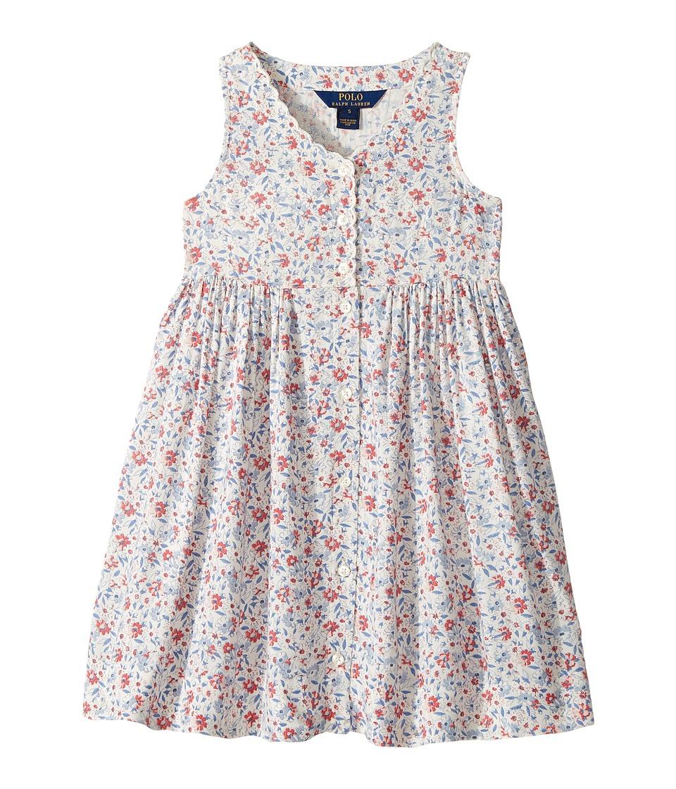 Polo Ralph Lauren Kids - Cotton Poplin Floral Dress (Little Kids) (Cream Multi) Girl's Dress