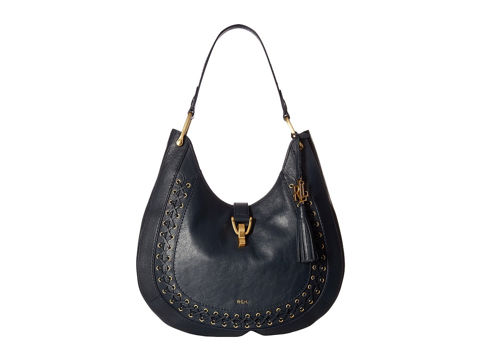 LAUREN Ralph Lauren - Ashfield Abree Hobo (Navy) Hobo Handbags