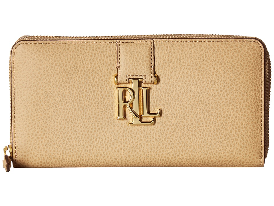 LAUREN Ralph Lauren - Carrington Zip Wallet (Camel) Wallet Handbags