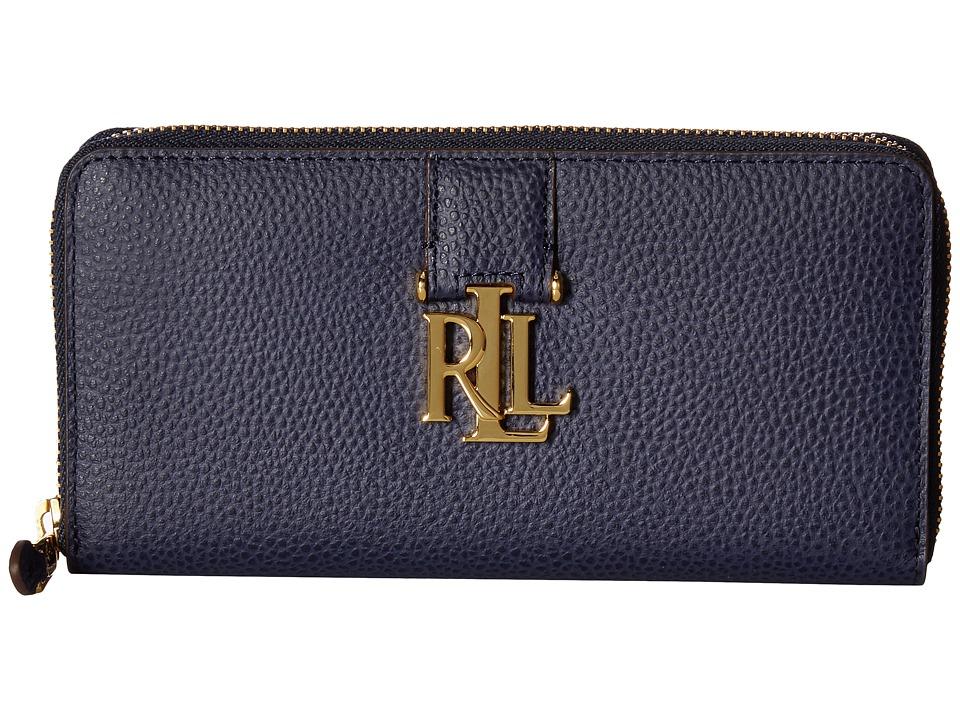 LAUREN Ralph Lauren - Carrington Zip Wallet (Marine) Wallet Handbags