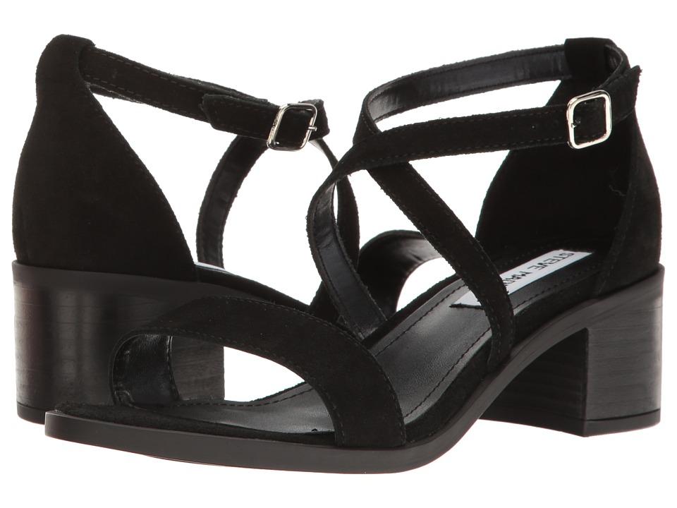 Steve Madden Rordan Black Suede 1-2 inch heel Shoes