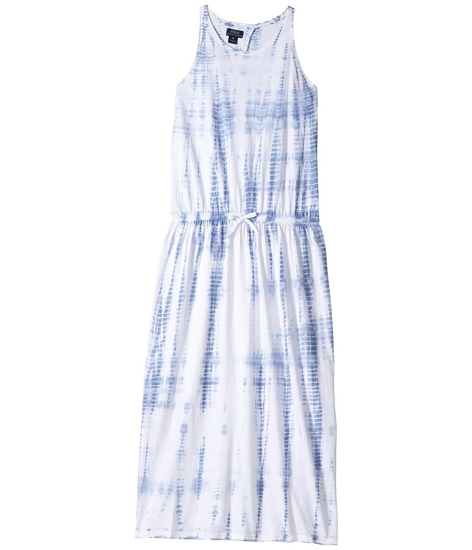 Polo Ralph Lauren Kids - Cotton Jersey Tie-Dye Dress (Little Kids/Big Kids) (French Blue) Girl's Dress