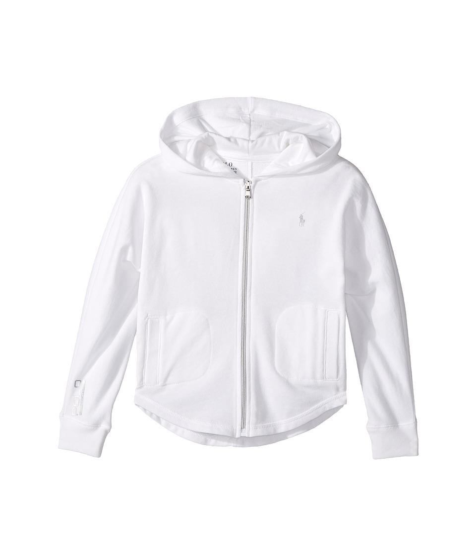 Polo Ralph Lauren Kids - Atlantic Terry Batwing Top (Little Kids/Big Kids) (White) Girl's Long Sleeve Pullover