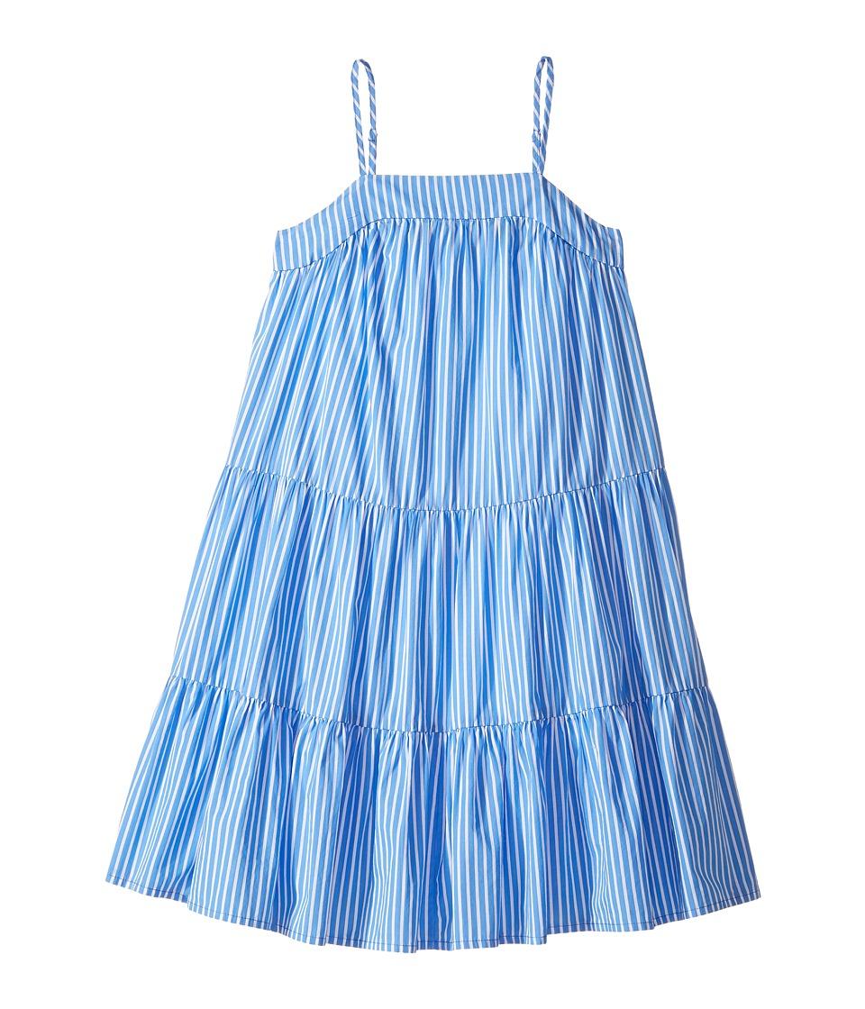 Polo Ralph Lauren Kids - Sunfade Bengal Tiered Dress (Big Kids) (Blue/White) Girl's Dress