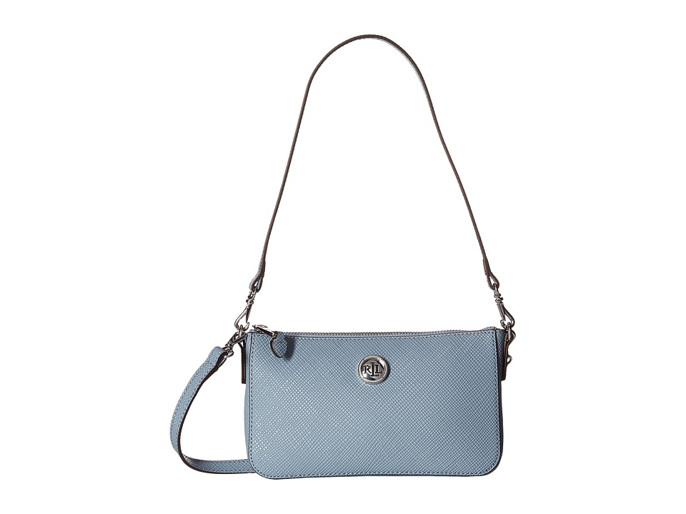 LAUREN Ralph Lauren - Pam Shoulder Bag (Blue Mist) Tote Handbags