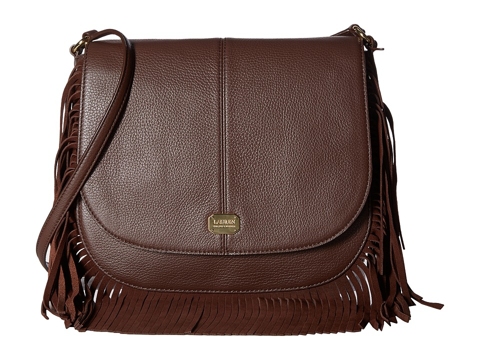 LAUREN Ralph Lauren - Cobden Saddle Bag Messenger Medium (Brown) Messenger Bags