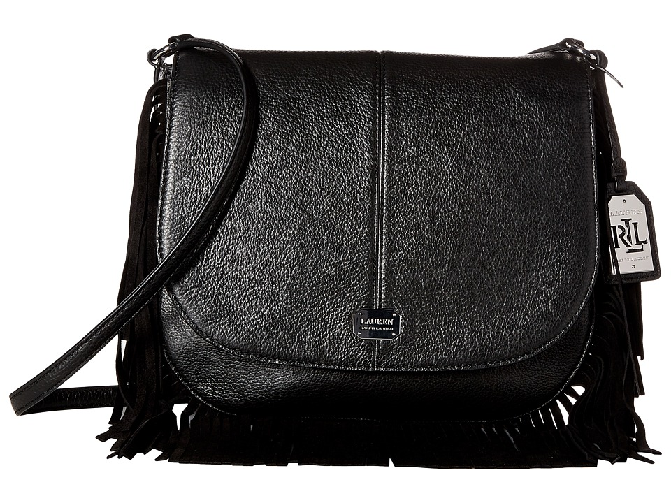 LAUREN Ralph Lauren - Cobden Saddle Bag Messenger Medium (Black) Messenger Bags