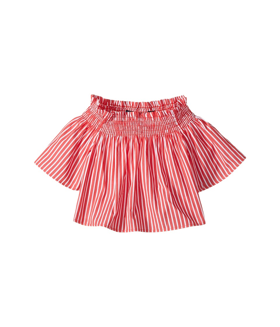 Polo Ralph Lauren Kids - Sunfade Bengal Striped Top (Toddler) (Red/White) Girl's Short Sleeve Knit