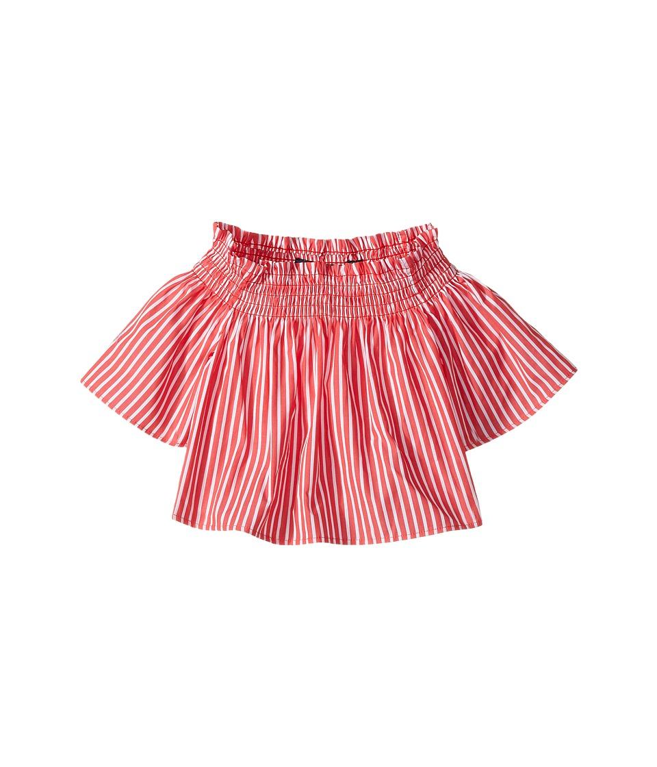 Polo Ralph Lauren Kids - Sunfade Bengal Striped Top (Toddler) (Red/White) Girl's Short Sleeve Knit