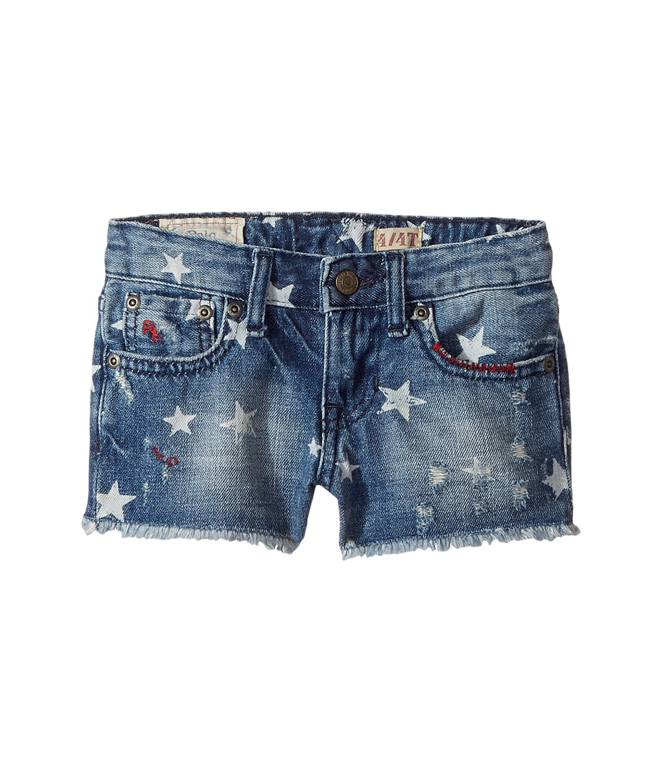 Polo Ralph Lauren Kids - Denim Print Shorts (Toddler) (Ashleigh Wash) Girl's Shorts