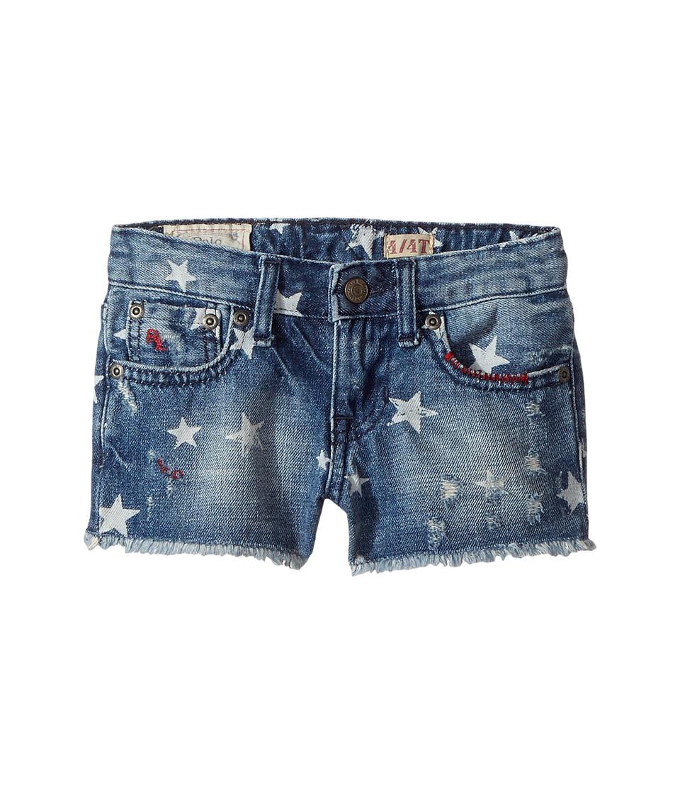 Polo Ralph Lauren Kids - Denim Print Shorts (Toddler) (Ashleigh Wash) Girl's Shorts