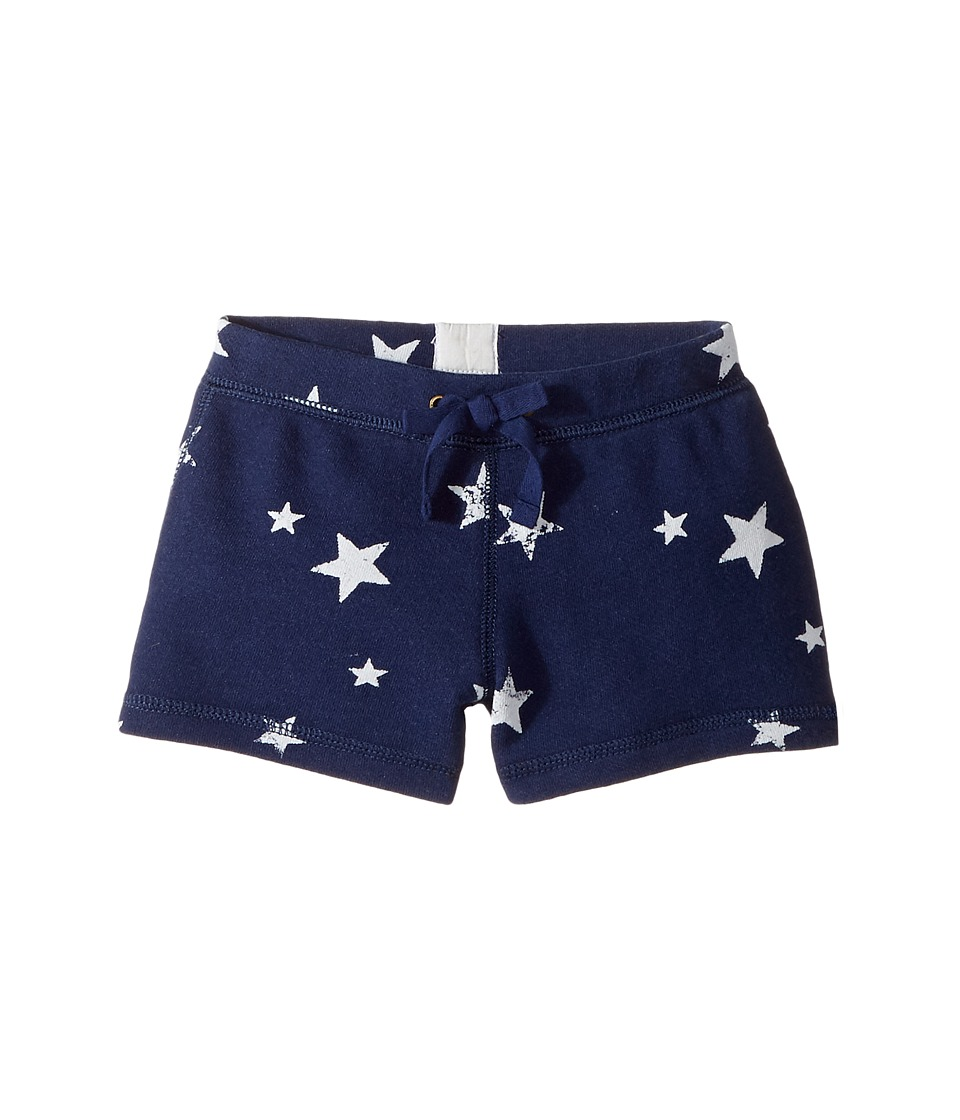 Polo Ralph Lauren Kids - French Terry Star Shorts (Toddler) (Blue/White Multi) Girl's Shorts