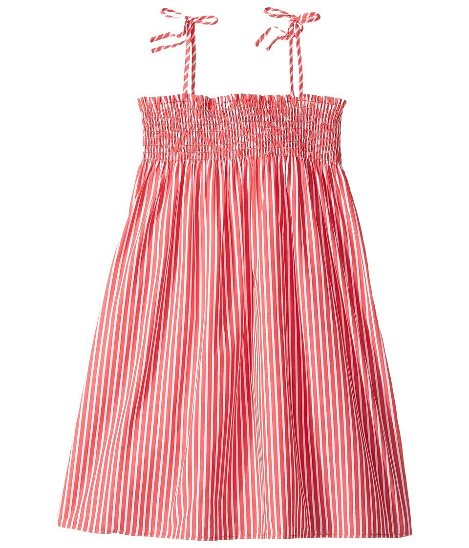 Polo Ralph Lauren Kids - Sunfade Bengal Slim Shirtdress (Little Kids) (Red/White Stripe) Girl's Dress