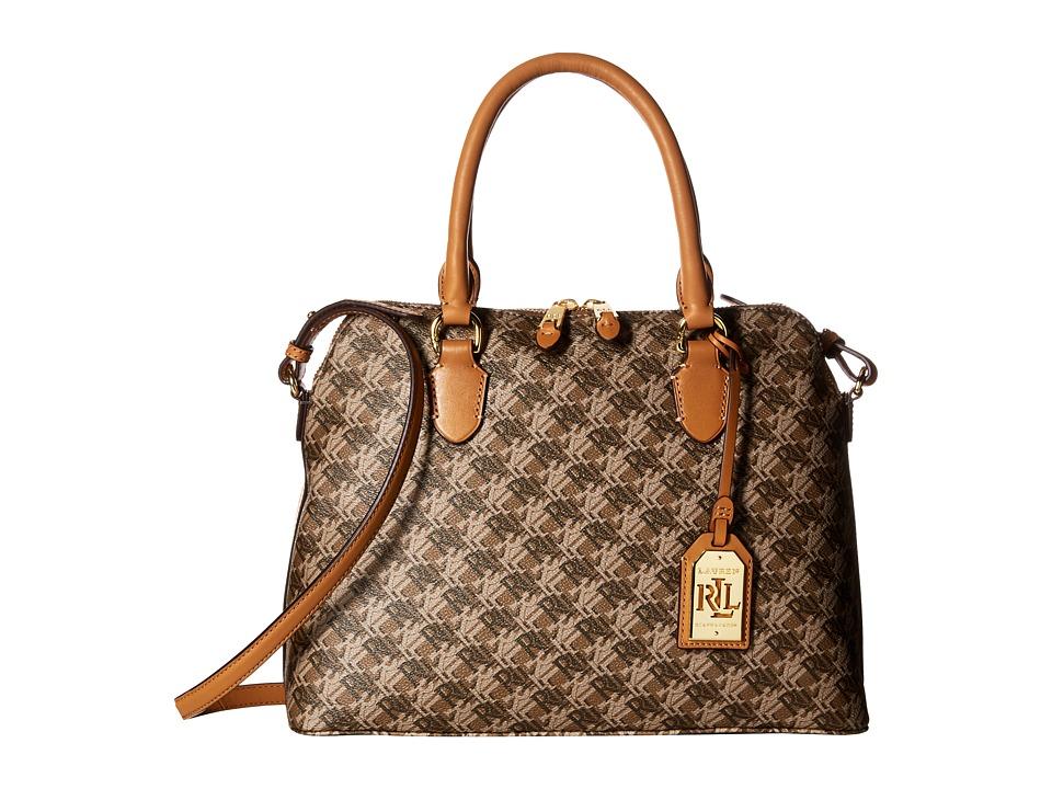 LAUREN Ralph Lauren - Dobson Dome Satchel Medium (Brown) Satchel Handbags