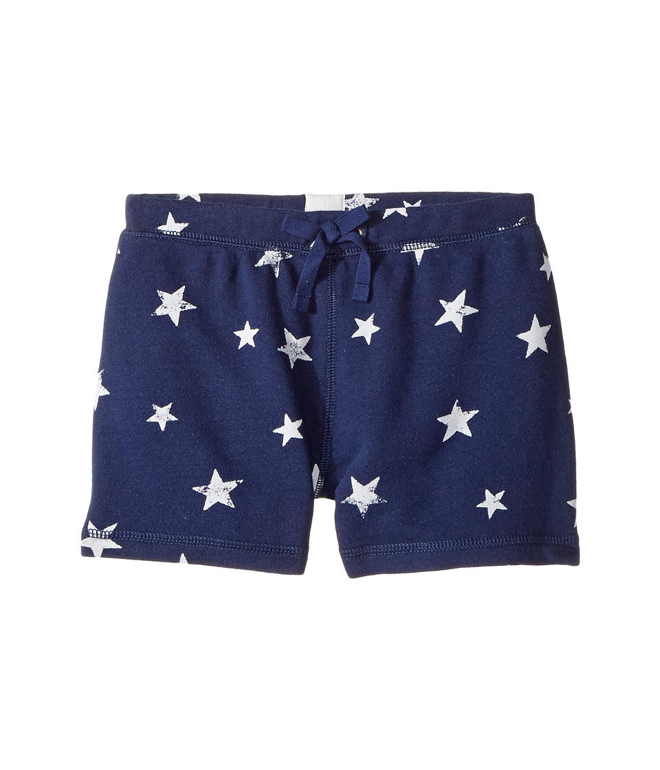 Polo Ralph Lauren Kids - French Terry Star Shorts (Little Kids) (Blue/White Multi) Girl's Shorts