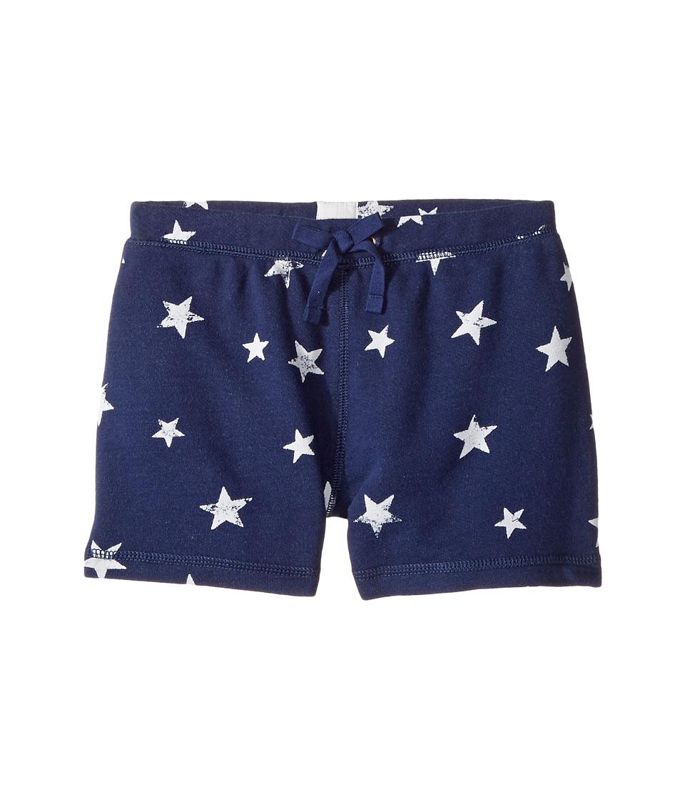 Polo Ralph Lauren Kids - French Terry Star Shorts (Little Kids) (Blue/White Multi) Girl's Shorts