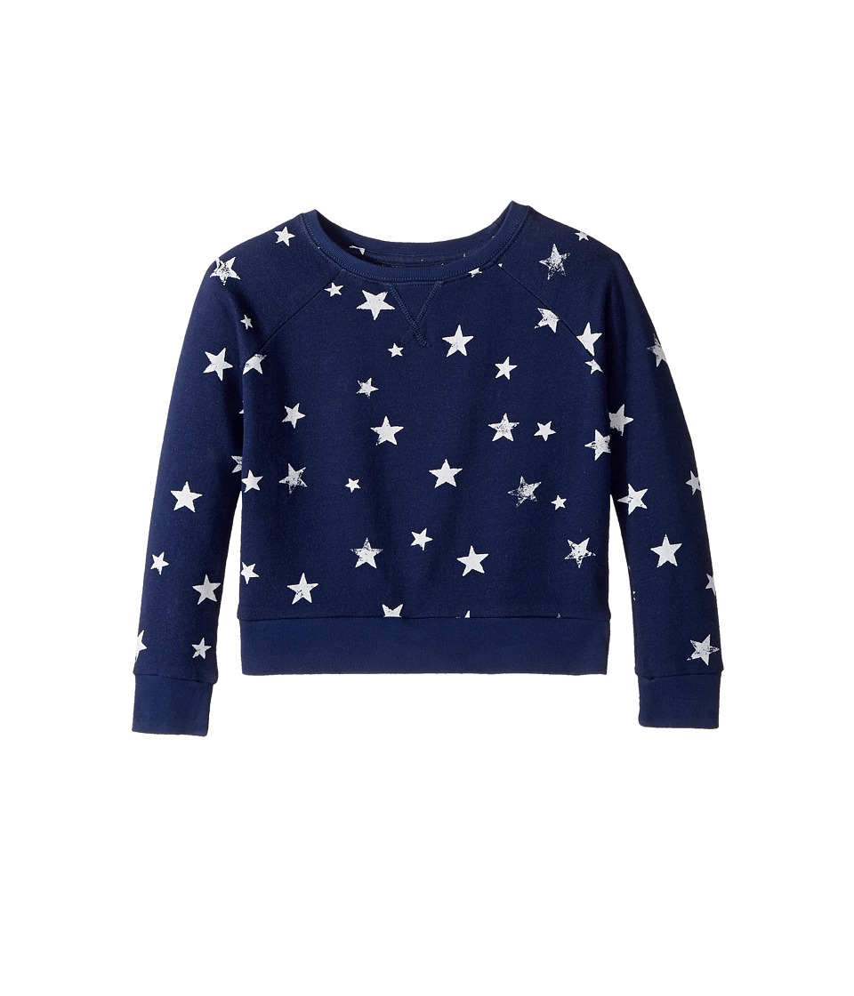 Polo Ralph Lauren Kids - French Terry Star Pullover Top (Little Kids/Big Kids) (Indigo Floral) Girl's Long Sleeve Pullover