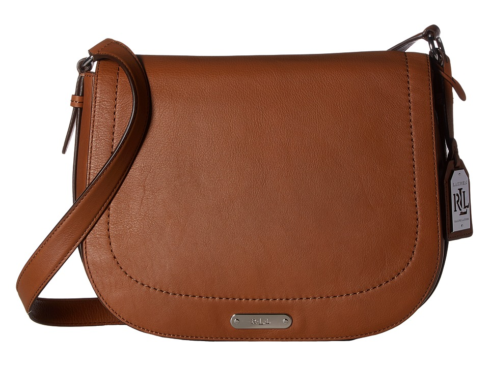 LAUREN Ralph Lauren - Glennmore Larisa Messenger Medium (Field Brown) Messenger Bags