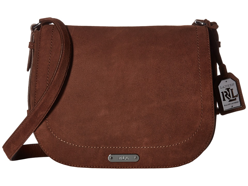 LAUREN Ralph Lauren - Glennmore Larisa Messenger Medium (Burnished Brown) Messenger Bags
