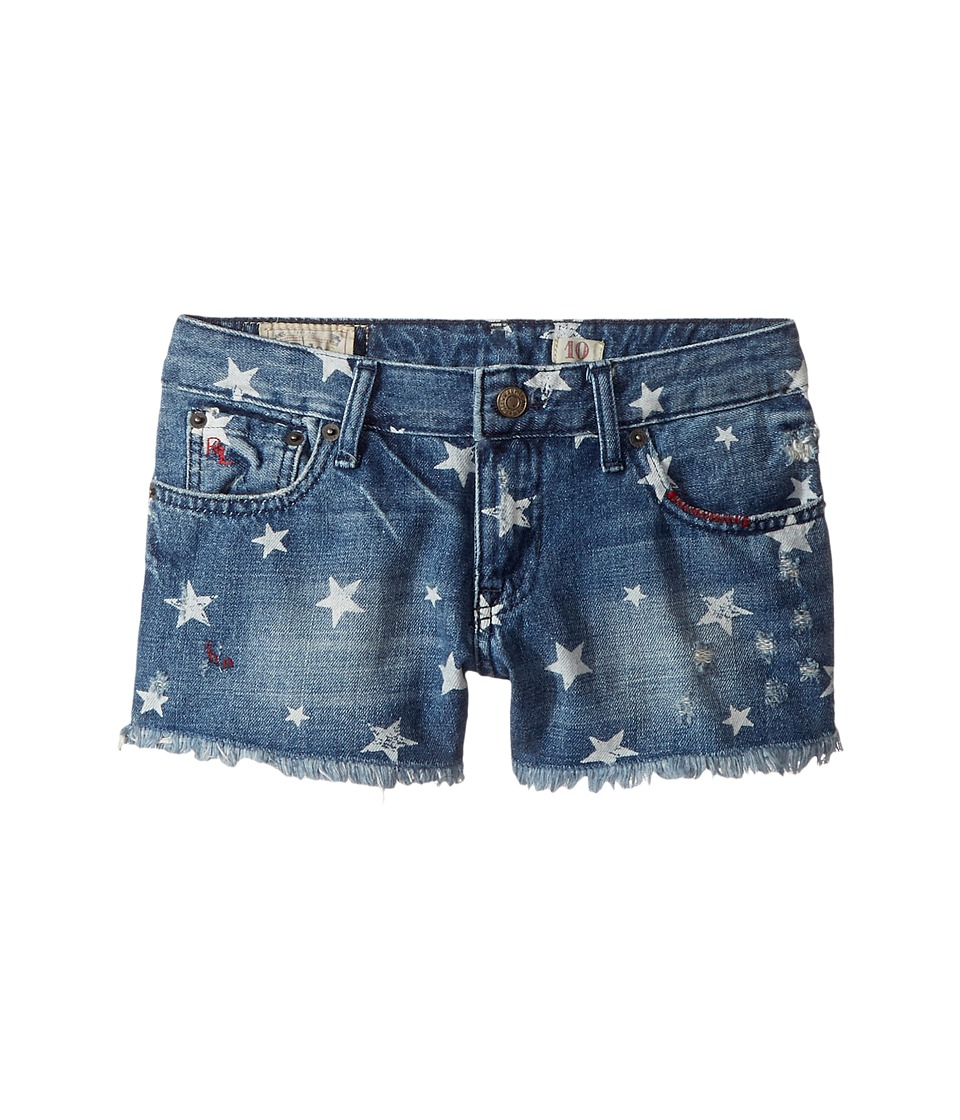 Polo Ralph Lauren Kids - Denim Print Shorts (Little Kids/Big Kids) (Ashleigh Wash) Girl's Shorts
