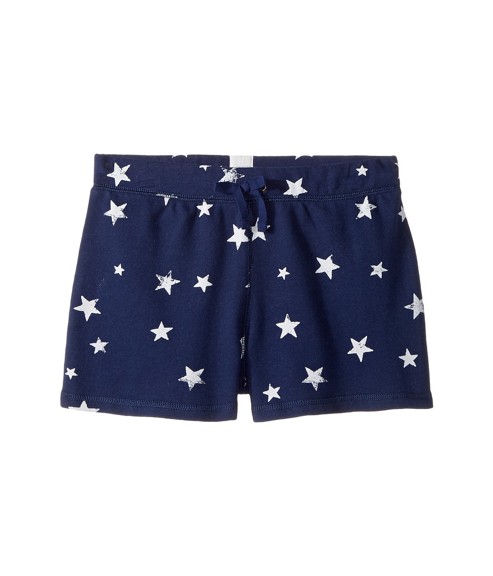 Polo Ralph Lauren Kids - French Terry Star Shorts (Little Kids/Big Kids) (Blue/White Multi) Girl's Shorts