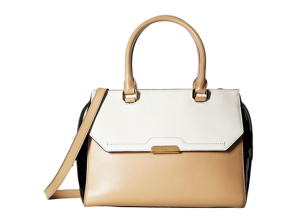 LAUREN Ralph Lauren - Mitford Alice Satchel Medium (Camel/Vanilla) Satchel Handbags
