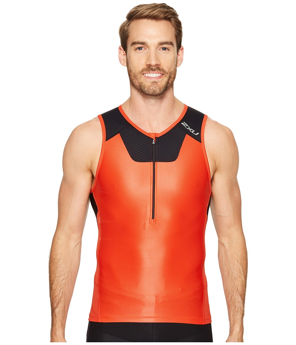 2XU - X-Vent Tri Singlet (Team Red/Black) Men's Workout
