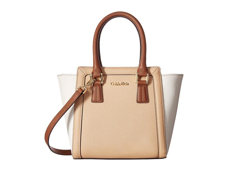 Calvin Klein - Saffiano Mini Satchel (Nude Combo) Satchel Handbags