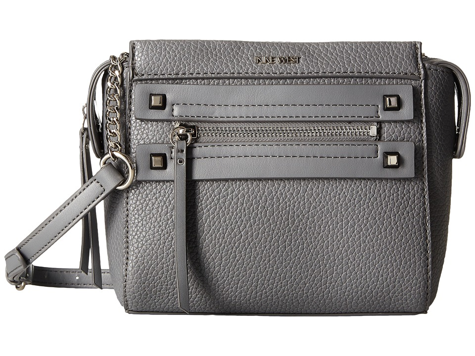 Nine West - Get Poppin Crossbody (Heather Grey) Cross Body Handbags