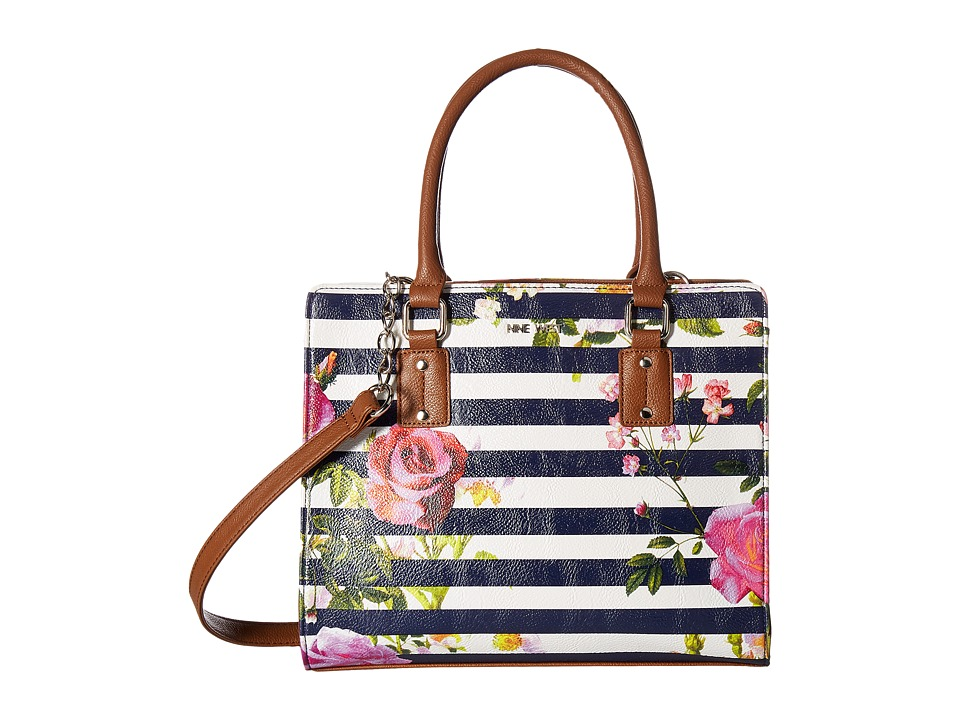 Nine West - You and Me (Blue Stripe/Floral) Handbags