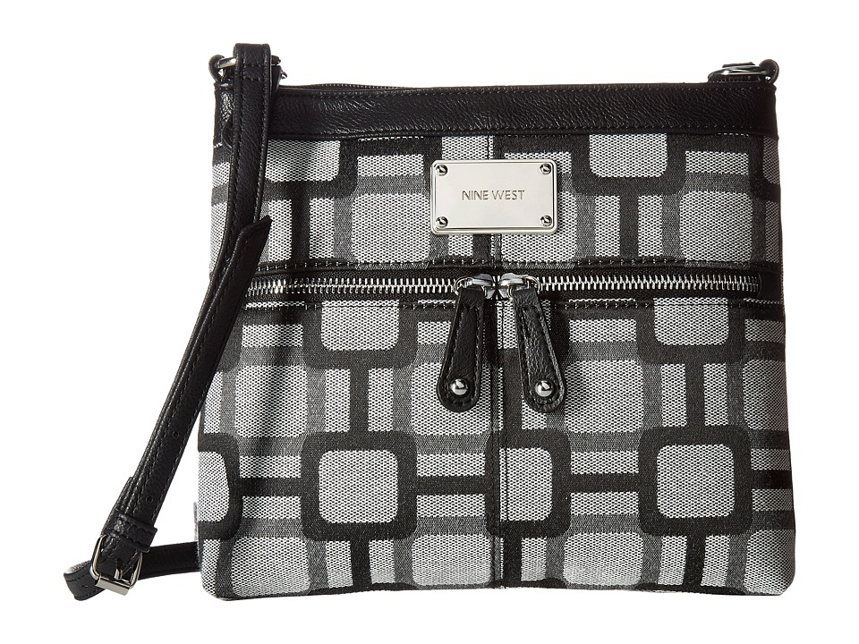 Nine West - Encino (Black/White/Black) Handbags