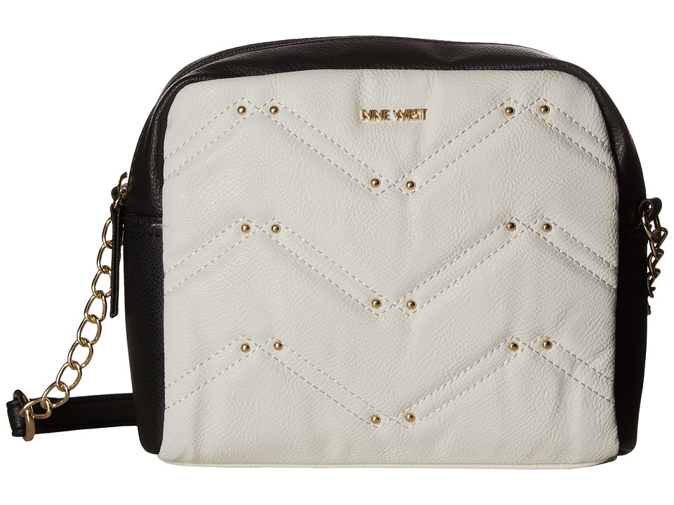 Nine West - Weekend Pass (Snow Petal/Black (Gussets + Handles)) Handbags
