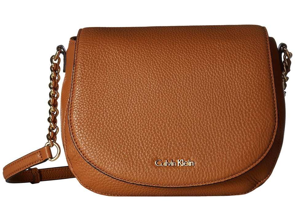 Calvin Klein - Key Items Pebble Saddle Bag (Caramel) Satchel Handbags