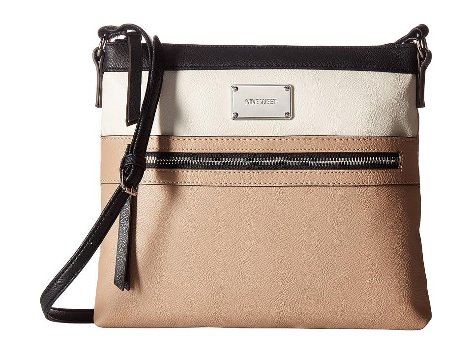 Nine West - Sure Spring (Mink/Chalk/Black) Handbags