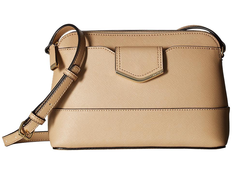 Calvin Klein - Saffiano Crossbody (Nude) Cross Body Handbags