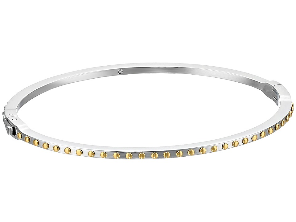 Michael Kors - Micro Muse Microstud Thin Hinged Bangle (Silver) Bracelet