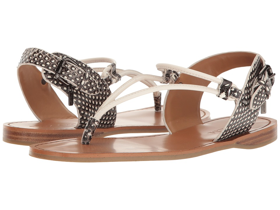 COACH - Clarkson (Black/White Snake/Chalk Matte Calf) Women's Shoes