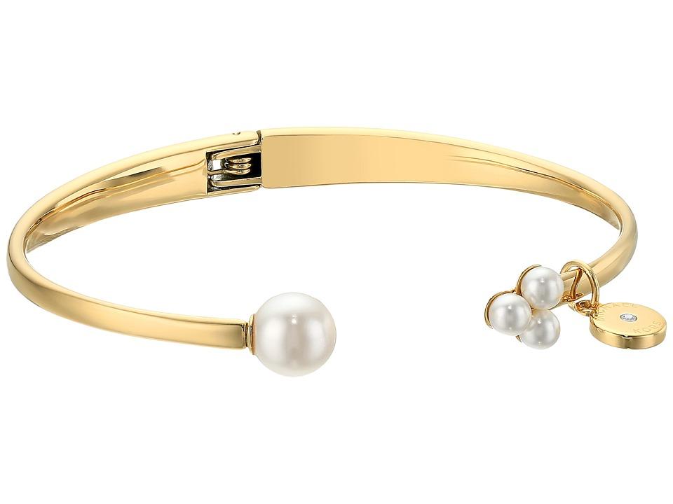 Michael Kors - Modern Classic Pearl Open Hinge Bracelet (Gold) Bracelet