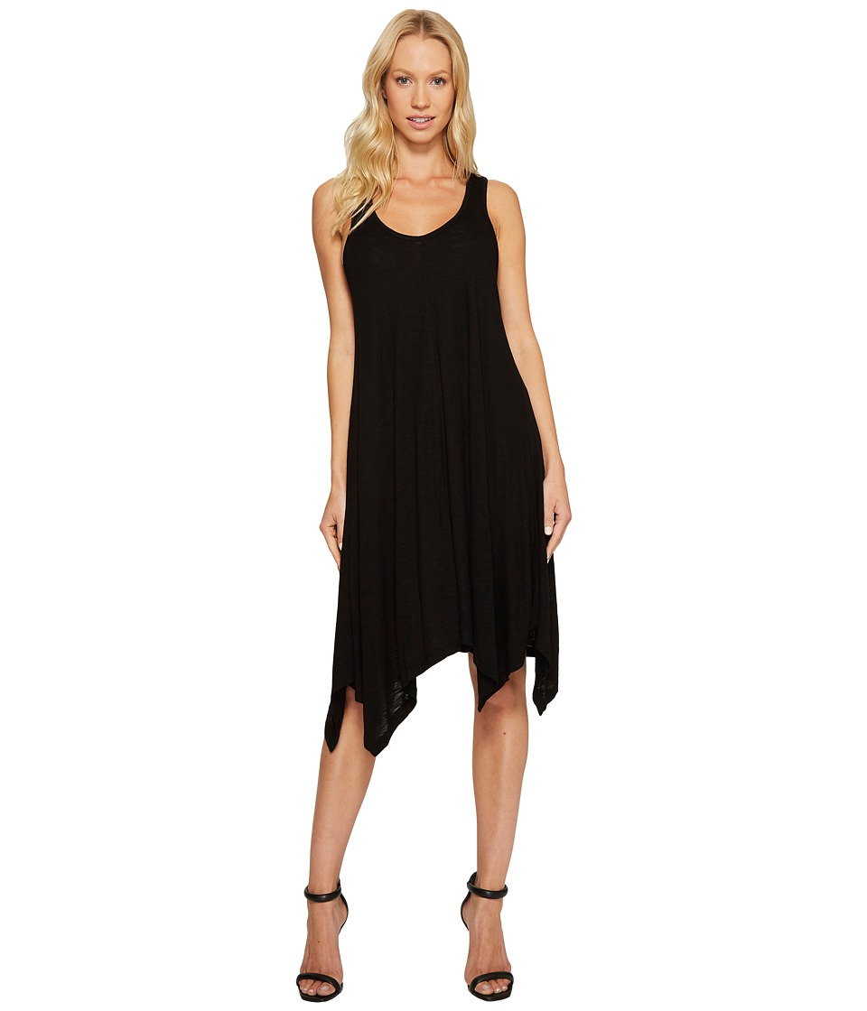 TWO by Vince Camuto - Slub Jersey Uneven Hem Tank Top (Rich Black) Women's Sleeveless
