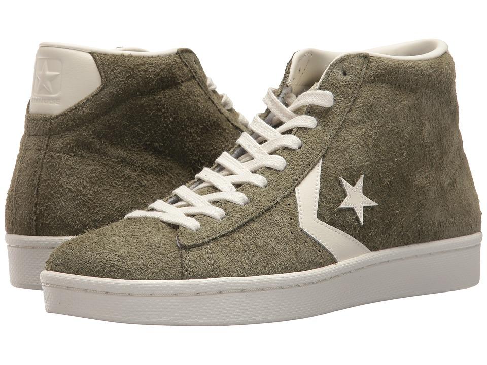 Converse Pro Leather 76 Mid (Medium Olive/Egret/Egret) Men's Classic Shoes