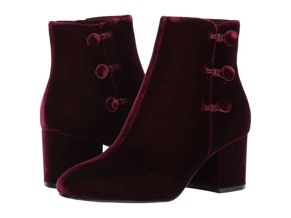 Ivanka Trump - Parin 2 (Dark Red Fabric/IP Velluto Master) Women's Boots